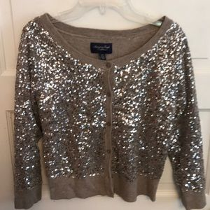 Sequined American Eagle Cardigan xs